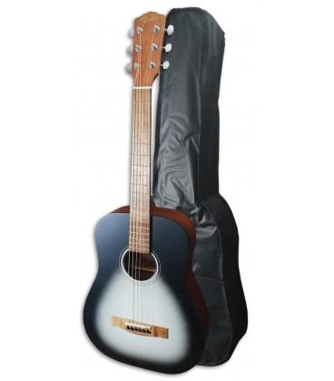 Foto da Guitarra Folk Fender modelo FA-15 tamanho 3/4, em cor Moonlight e com Saco