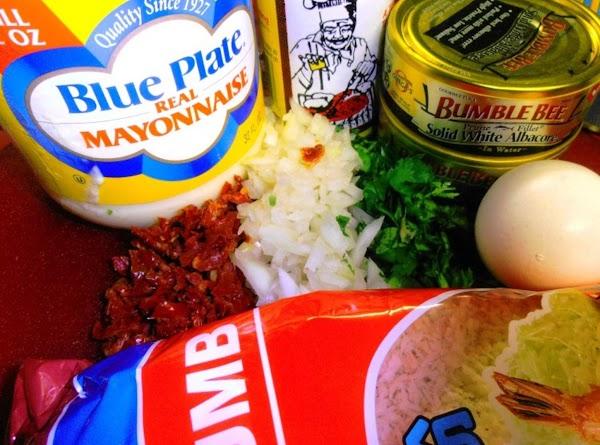 gather tuna cake ingredients