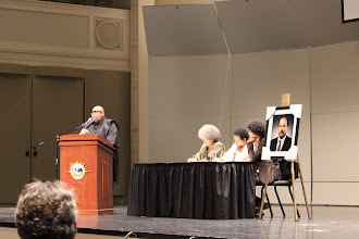 "Photo: Dr. Maulana Karenga speaking on ""Black Studies in the Scales of History: A Critical Reading of Achievements and Challenges."""