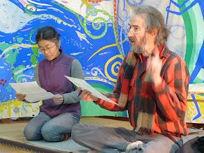 Photo: ケン・ロジャースと宮崎みどりさんによる詩の朗読