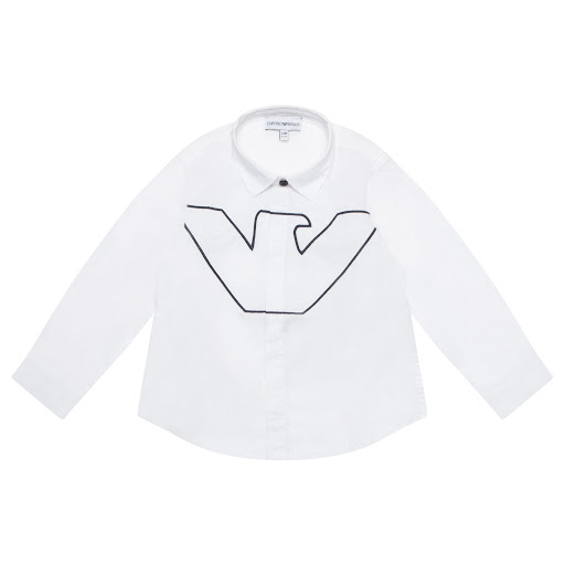 Primary image of Emporio Armani Logo Embroidered Shirt