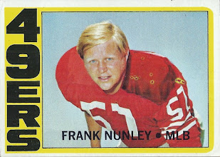 Photo: Frank Nunley 1972 Topps RC