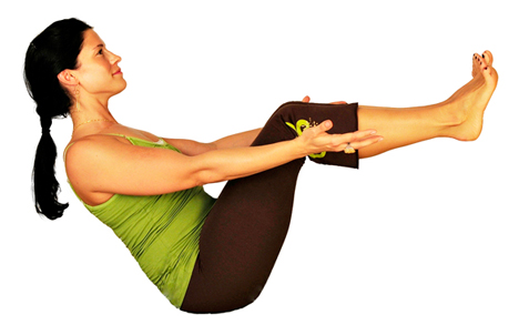 Strengthen your thighs and abdominal muscles with boat pose