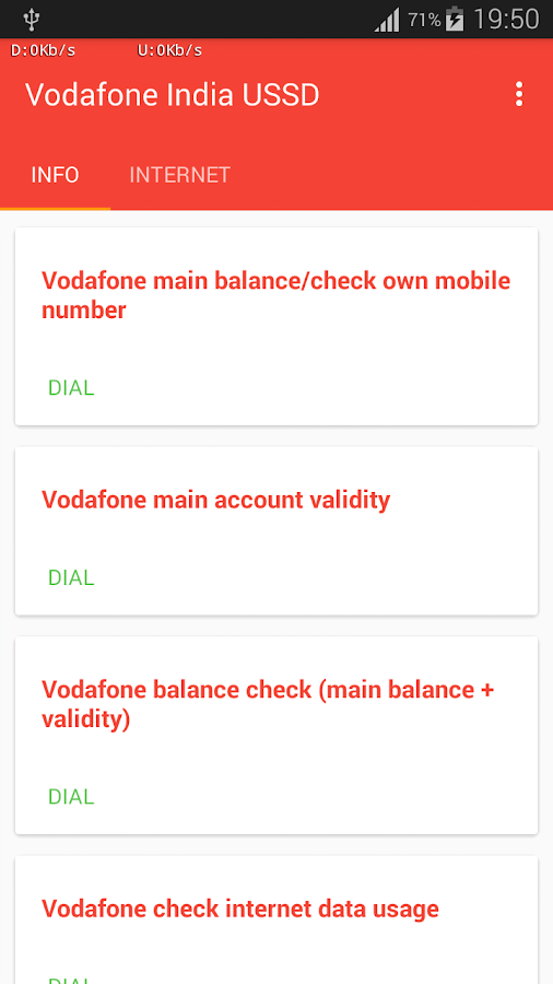 vodafone india balance check
