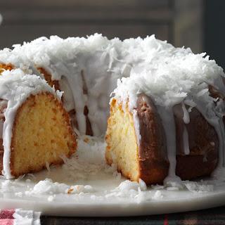 Pina Colada Bundt Cake.
