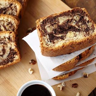 Hazelnut Chocolate Pound Cake.