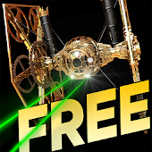 Steampunk Star Fighter Live Wallpaper - FREE