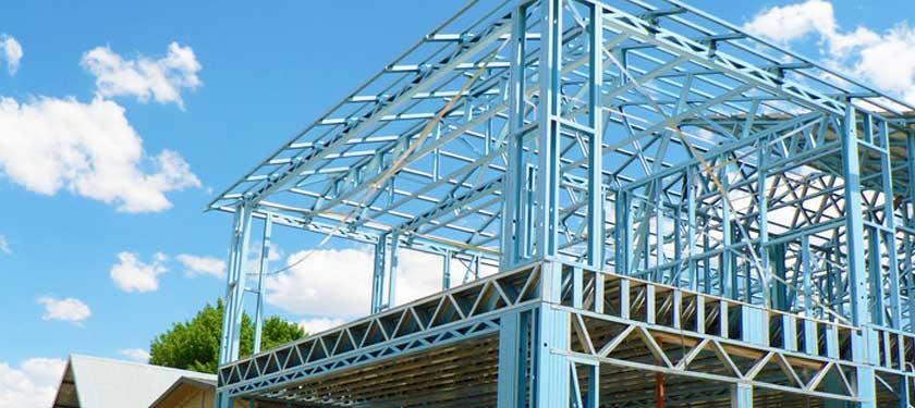 Kết cấu thép mang lại sự vững chắc cho nhà tiền chế