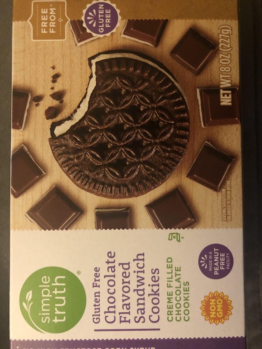 Gluten Free Chocolate Flavored Sandwich Cookies