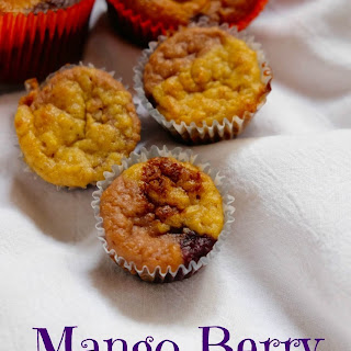 Berry Mango Swirl Muffins.