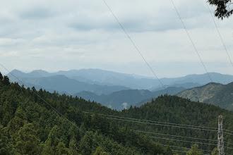 台高山脈方面(左に栗ノ木岳)