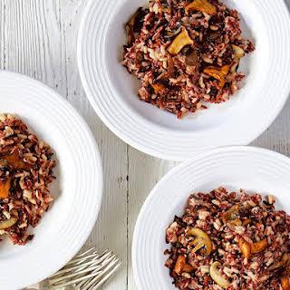 Wild Rice & Mushroom Risotto With Roast Garlic.