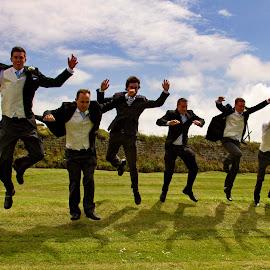 Groomsmen by Brian Pierce - Wedding Groom ( vicky, st just, wedding, john, victoria, cape cornwall,  )