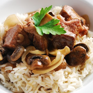 Beef Tips in Mushroom Sauce