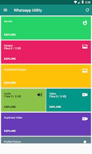 WhatsApp için Araçlar - Utility | Status | Cleaner - náhled