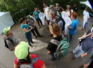 Photo: Impromptu lecture by Chris.