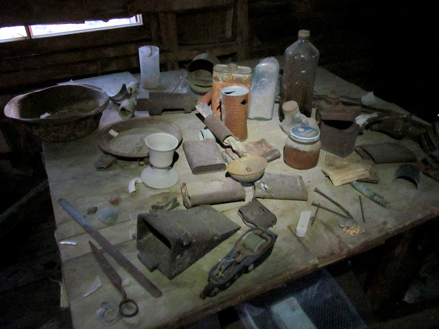Lost Burro cabin artifacts