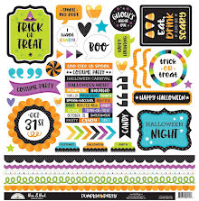 Doodlebug Cardstock Stickers 12X12 - Pumpkin Party This & That