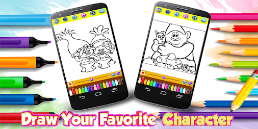 Coloring Pages For Crazy Trolls APK screenshot thumbnail 1
