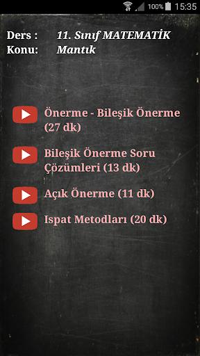 Cepte Ders 11. Su0131nu0131f Matematik 1.1 screenshots 9