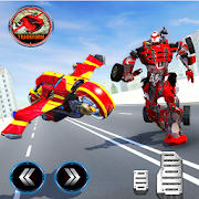 Moto Robot Transformation: Robot Flying Car Games