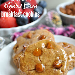 Glazed Honey Bun Breakfast Cookies