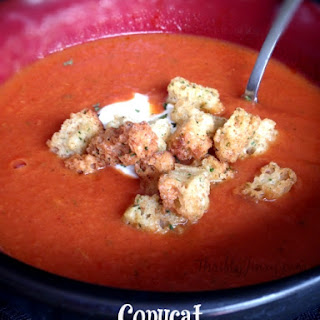 Copycat Panera Bread Tomato Bisque Soup.