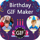 Birthday GIF Maker with Name & Photo