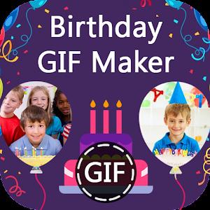 Birthday GIF Maker with Name & Photo