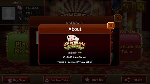 Universal Teen Patti - Indian Poker Game  captures d'u00e9cran 11
