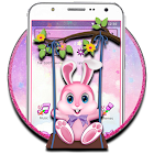 Cute Pink Bunny Theme icon