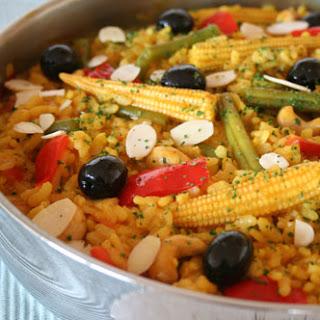 Spanish Veggie Paella (Easy, Low Cost, One Pot Dinner) Recipe