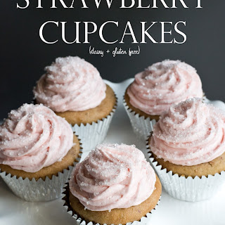 Strawberry Cupcakes {dairy + gluten free}.