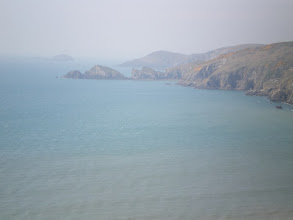 Photo: From Broad Haven to Solva (bkgrd: Dinas Fach, Pen Dinas and Green Scar)
