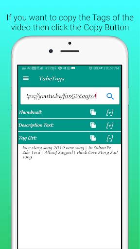 UTube Tags And Thumbnail Downloader screenshot 10