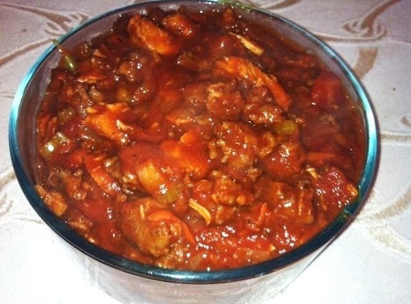 Add the cooked meat to pot. Add in the pepper,Basil,nutmeg,and Italian seasoning. Mix well...