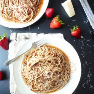 Strawberry Pasta with Pecorino.