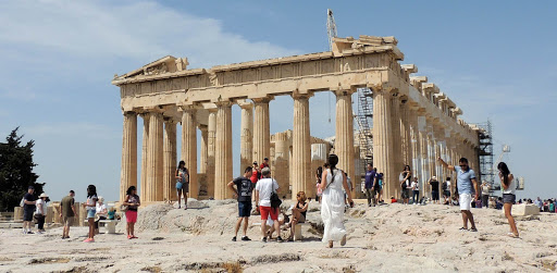 The iconic Parthenon atop the Acropolis in Athens.