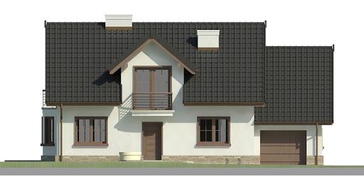 Dom przy Modrzewiowej 3 - Elewacja przednia