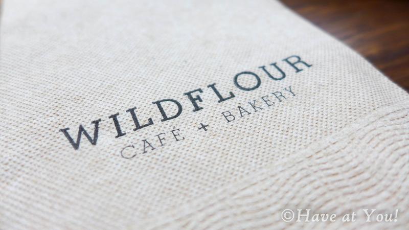 Wildflour logo on a piece of table napkin