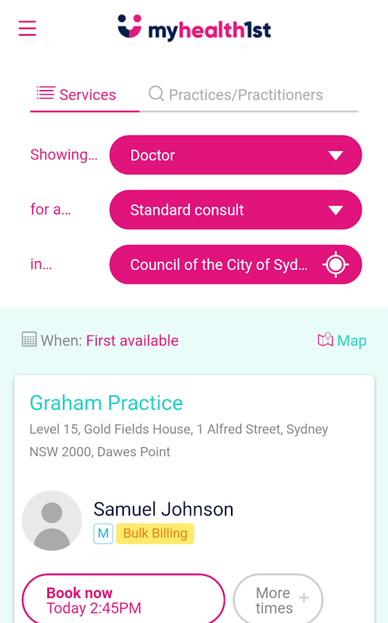 MyHealth1st- screenshot