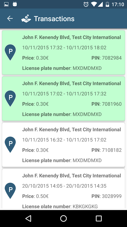 Mobile Parking with TraviPay- screenshot