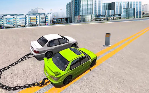 Chained Cars Against Bollard 1.0 screenshots 4