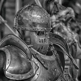 by Marco Bertamé - Artistic Objects Other Objects ( helmet, knight, metal, protection )