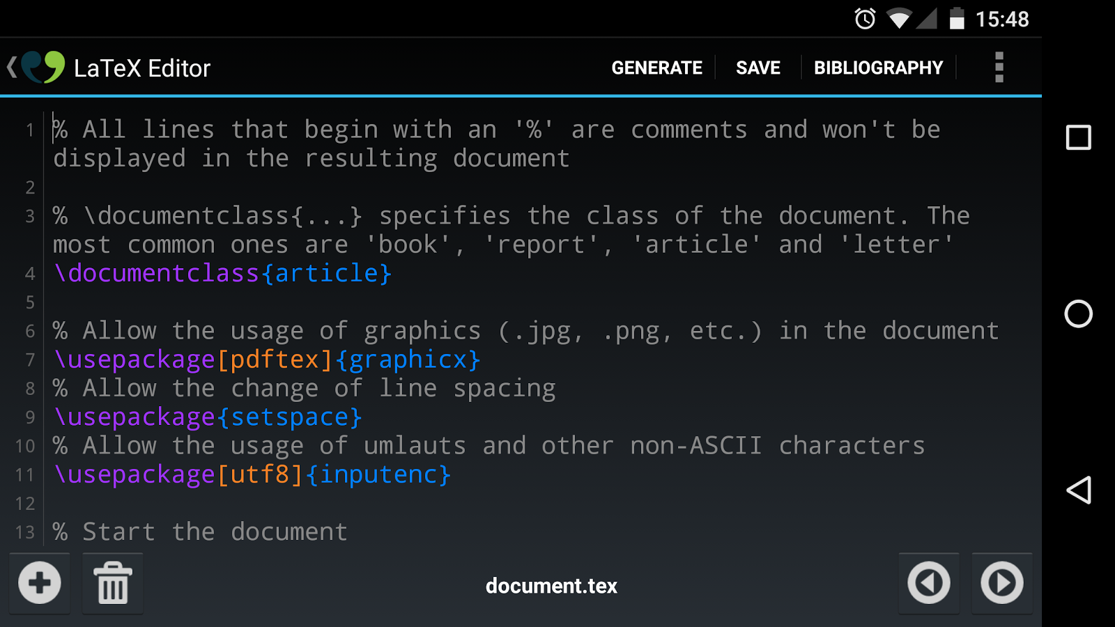 VerbTeX LaTeX Editor- screenshot