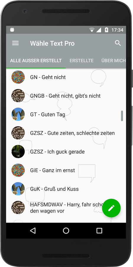 Wähle Text Pro for WhatsApp- screenshot