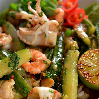 Vietnamese Seafood and Cucumber Stir-fry.