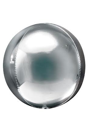 Folieballong, rund silver
