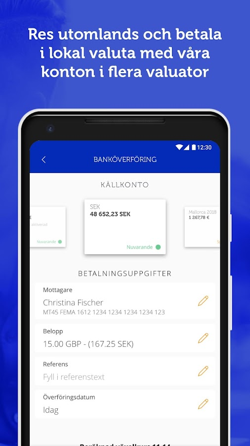 Ferratum Mobile Bank– skärmdump