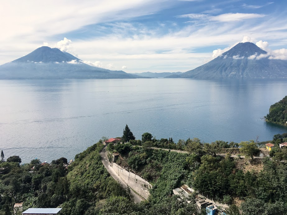 One of the best view of Lake Atitlan can be found on the terrace of CECAP, a culinary school that also runs a cafe/restaurant in Santa Cruz Laguna.